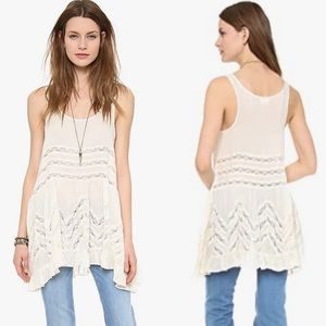 Free People Voile & Lace Trapeze Tunic